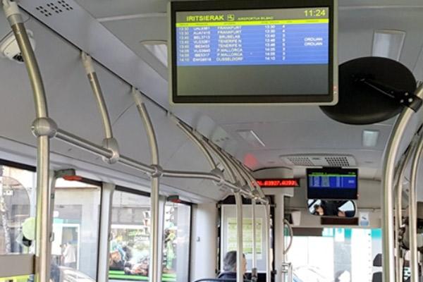 Creación de un sistema de información de embarcado sobre vuelos en los autobuses al aeropuerto